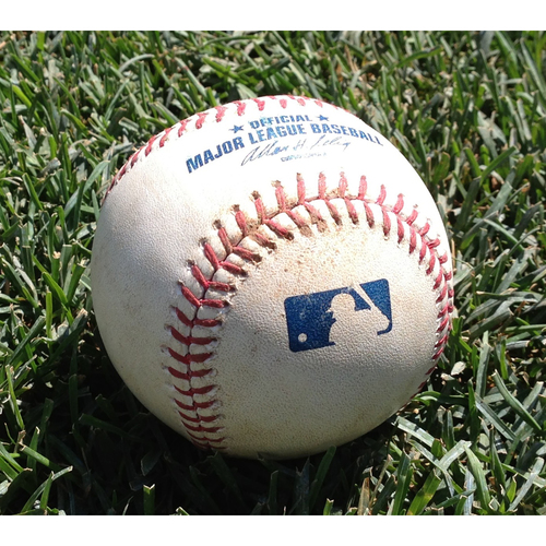 Photo of Game-Used Baseball: Michael Taylor Single