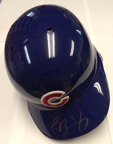 Javier Baez Autographed Cubs Batting Helmet
