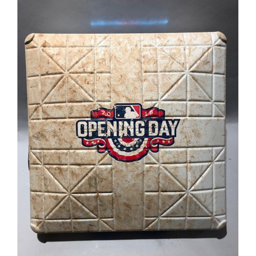 Photo of 2016 Los Angeles Dodgers Opening Day - 1st Base Used In Innings 1-9 - 4/12/16