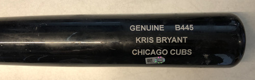 Photo of Kris Bryant Game-Used Cracked Bat -- Joe Ross to Kris Bryant, Flied Out, Top 1 -- Cubs at Nationals -- 9/13/18