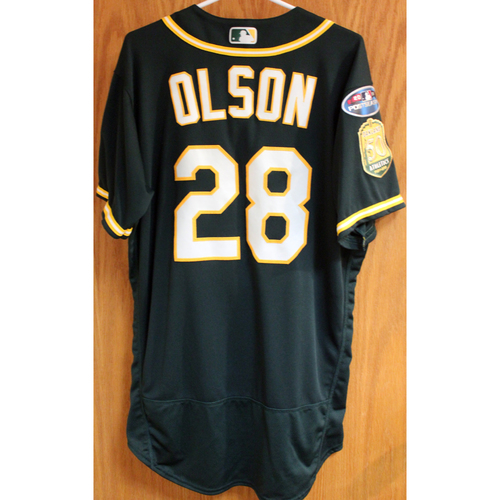 Photo of Game-Used Jersey: Matt Olson AL Wild Card Game 10/3/18