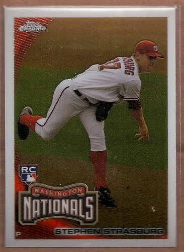 Photo of 2010 Topps Chrome #212 Stephen Strasburg Rookie Card