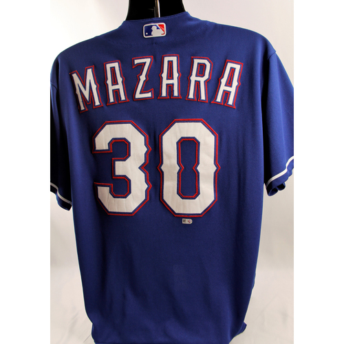 Photo of Game-Used Blue Jersey - Nomar Mazara - 5/3/18, 6/3/18, 6/19/18, 6/23/18