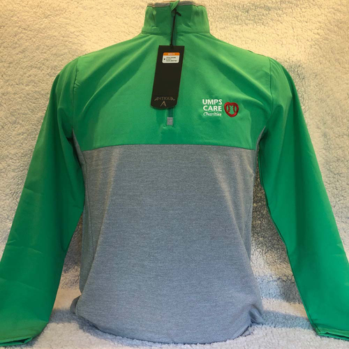 Photo of UMPS CARE AUCTION: UMPS CARE Antigua Regime Pullover, Green/Grey, Size XL