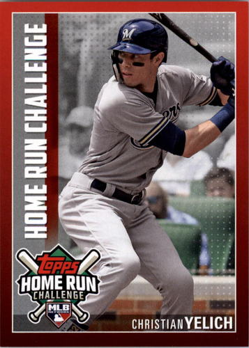 Photo of 2019 Topps Home Run Challenge #HRC34 Christian Yelich