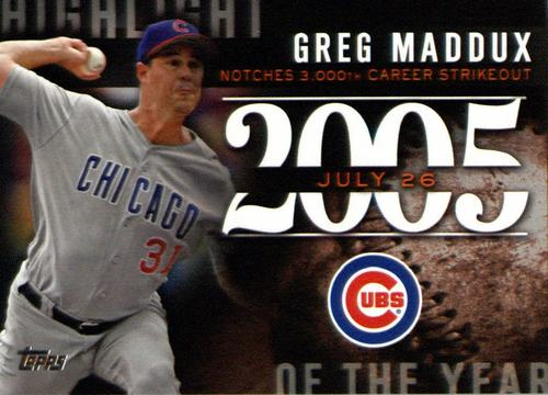 Photo of 2015 Topps Highlight of the Year #H58 Greg Maddux
