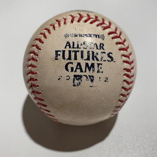 Photo of 2012 Futures Game - Game Used Baseball - Batter: Jesus Aguilar Pitcher: Dylan Bundy - Pitch In Dirt