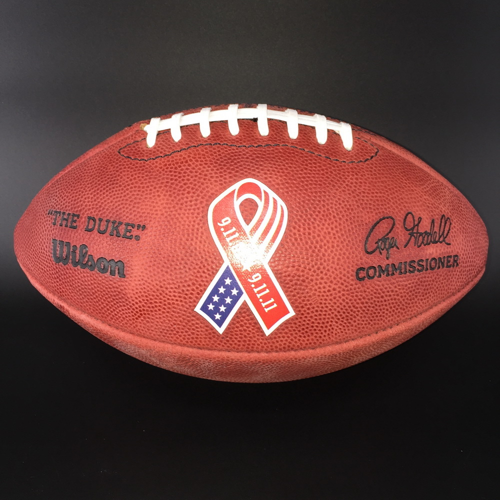 PCF - Seahawks AUTHENTIC FOOTBALL WITH 9/11 RIBBON LOGO