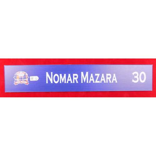 Photo of Final Season Game-Used Locker Tag - Nomar Mazara - 9/13/19 vs OAK