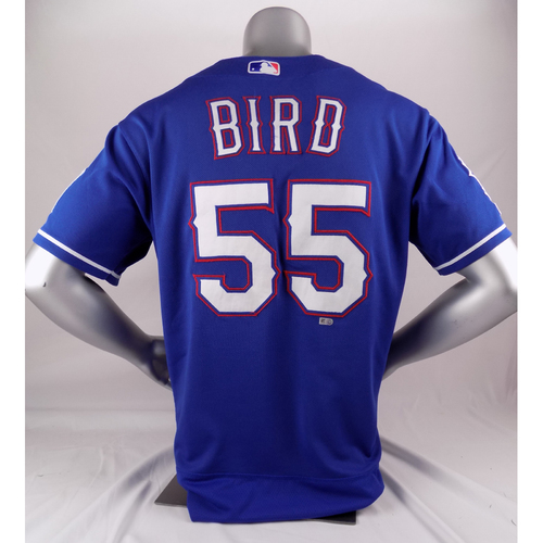 Photo of Final Season Game-Used Blue Jersey - Kyle Bird - 7/22/19