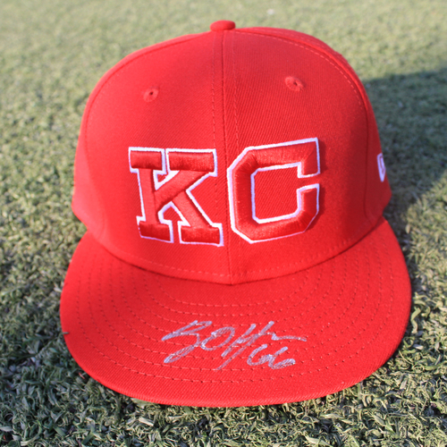 Photo of Autographed Monarchs Cap: Ryan O'Hearn (STL @ KC 9/22/20)