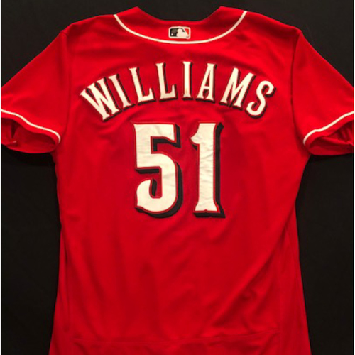 Photo of Nick Williams -- 2020 Spring Training Jersey -- Team-Issued -- Size 44