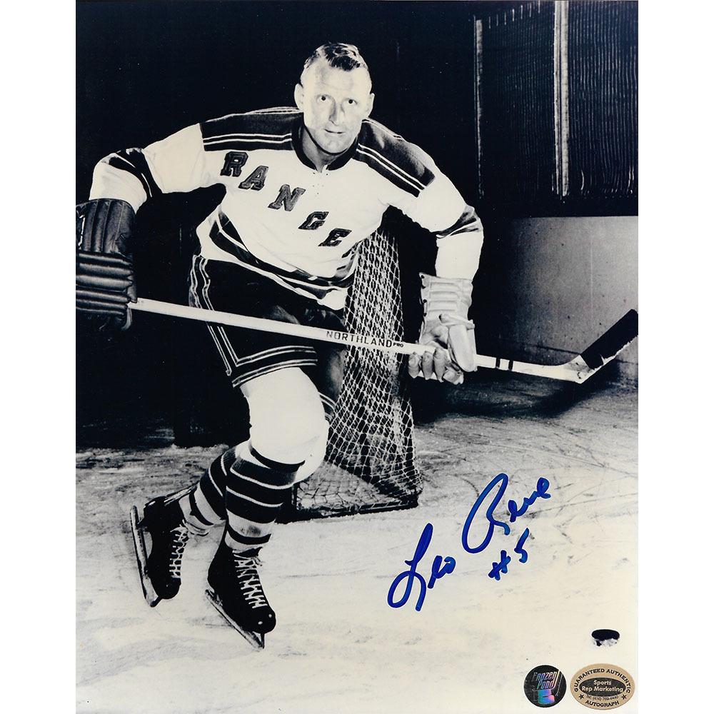 Leo Reise Autographed New York Rangers 8X10 Photo
