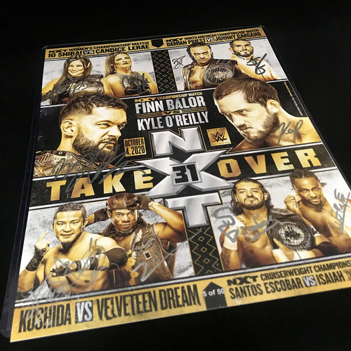SIGNED and NUMBERED NXT 31Fight Cards (Random Number)