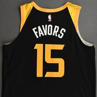 Derrick Favors - Utah Jazz - Game-Worn City Edition Jersey - 2020-21 NBA Season