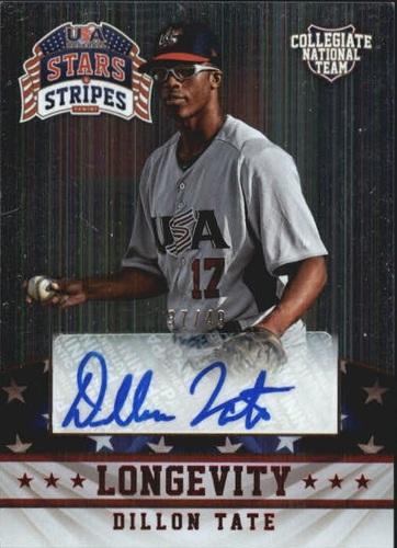 Photo of 2015 USA Baseball Stars and Stripes Longevity Signatures Ruby #33 Dillon Tate/49