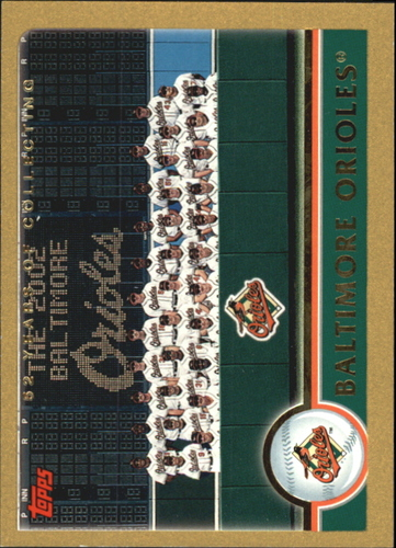 Photo of 2003 Topps Gold #633 Baltimore Orioles TC