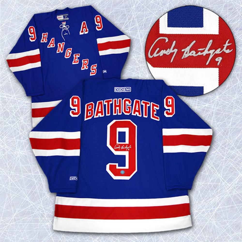Andy Bathgate New York Rangers Autographed Retro CCM Hockey Jersey