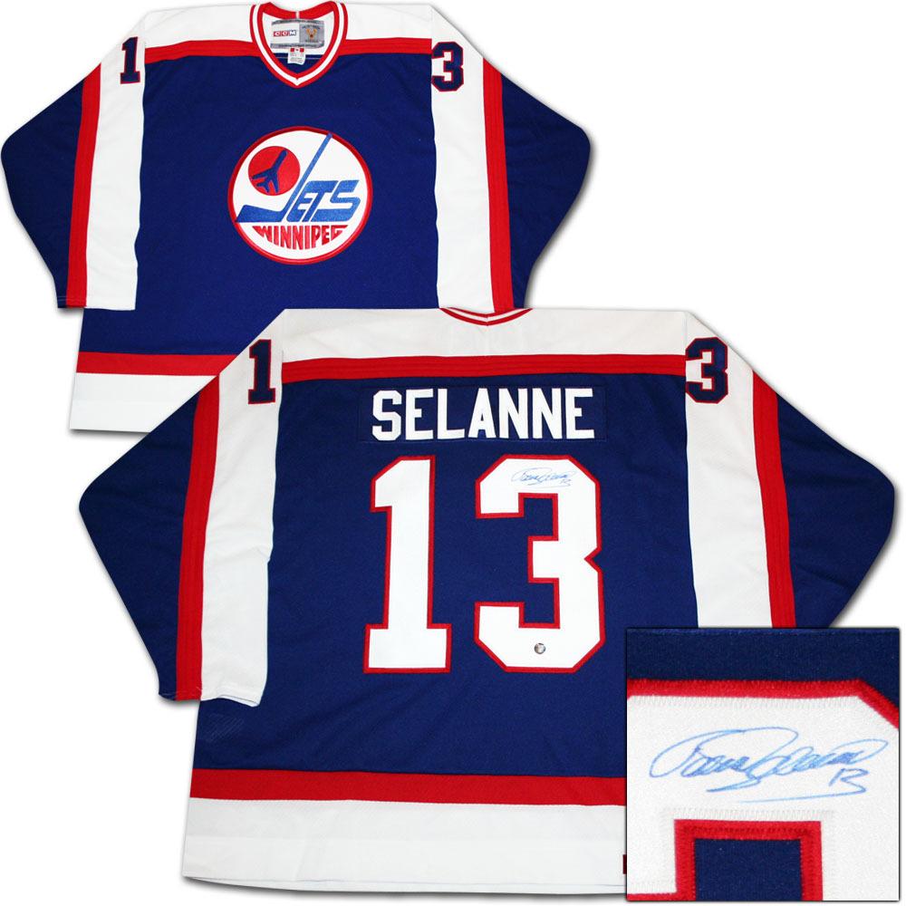 new style 8b4bd 5d287 Teemu Selanne Autographed Winnipeg Jets Vintage Jersey - NHL ...