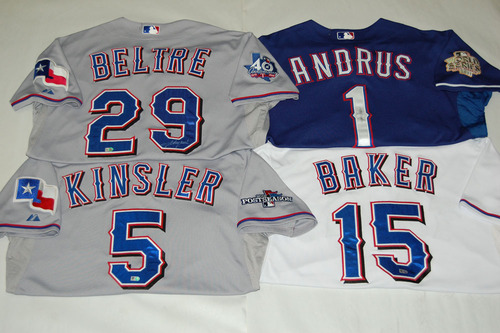 Infield Player Bundle of four Game-Used Jerseys