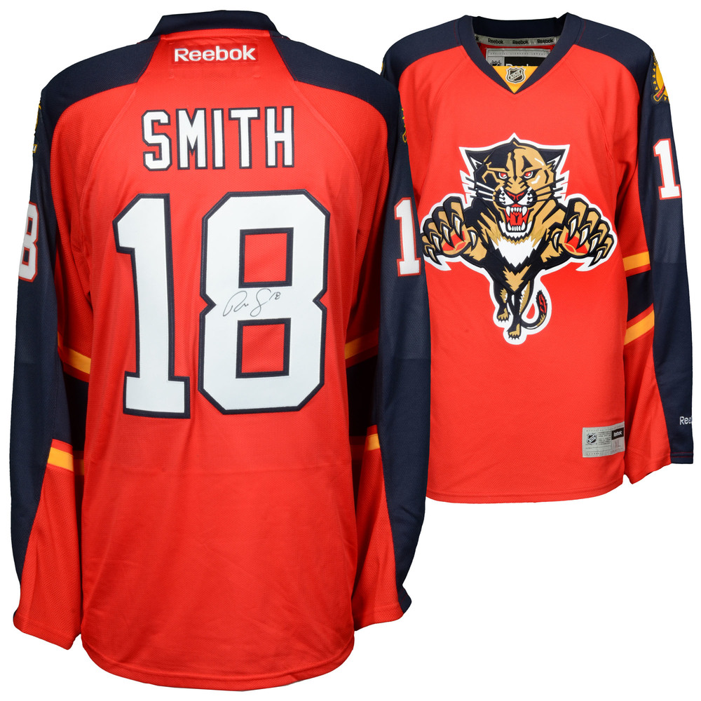 quality design fab4f e24cb Reilly Smith Florida Panthers Autographed Red Reebok Premier ...