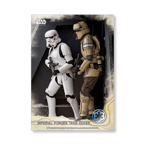 Imperial Forces take cover 2016 Star Wars Rogue One Series One Base Poster - # to 99
