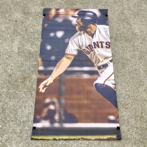 Photo of San Francisco Giants - MLB Authenticated 2017 Hunter Pence Street Banner