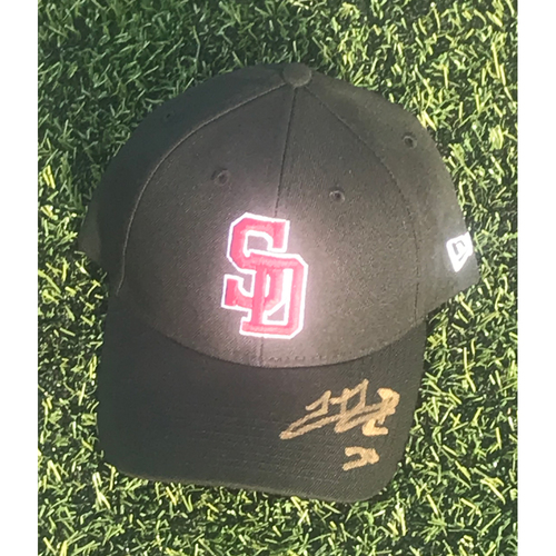 Photo of Hector Rondon Autographed and Game-Used Stoneman Douglas Eagles Cap