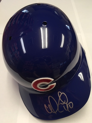 Photo of Willson Contreras Autographed Cubs Batting Helmet
