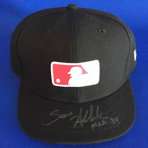 Photo of UMPS CARE AUCTION: Sam Holbrook Signed Mother's Day Plate Cap - Size 7 1/8 - Not MLB Authenticated