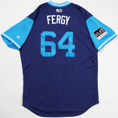 "Photo of Caleb ""Fergy"" Ferguson Los Angeles Dodgers Game-Used 2018 Players' Weekend Jersey"