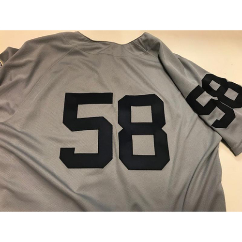 Photo of Game-Used 1968 World Series 50th Anniversary Jersey: Victor Alcantara