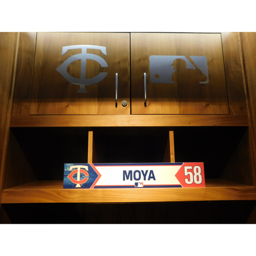Photo of 2018 Gabriel Moya Game-Used Locker Name Plate