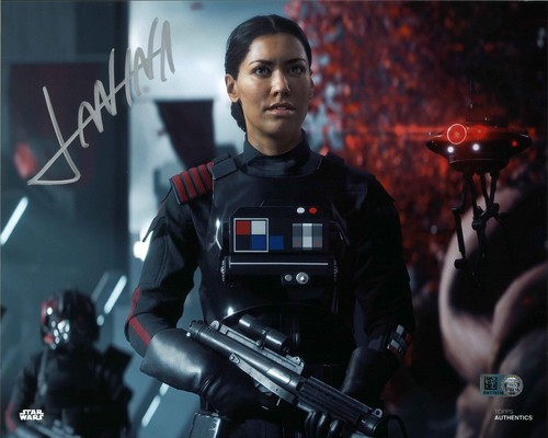 Janina Gavankar As Iden Versio 8x10 Autographed In Silver Ink Photo