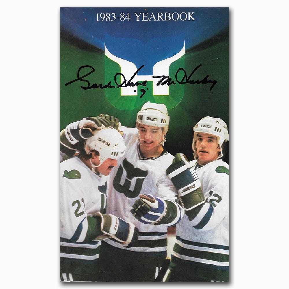 Gordie Howe Autographed Hartford Whalers 1983-84 Yearbook