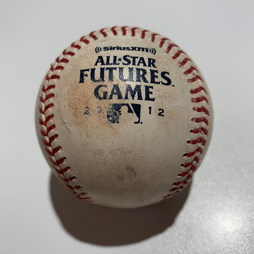 Photo of 2012 Futures Game - Game Used Baseball - Batter: Nick Castellanos Pitcher: Julio Rodriguez - Pitch In Dirt