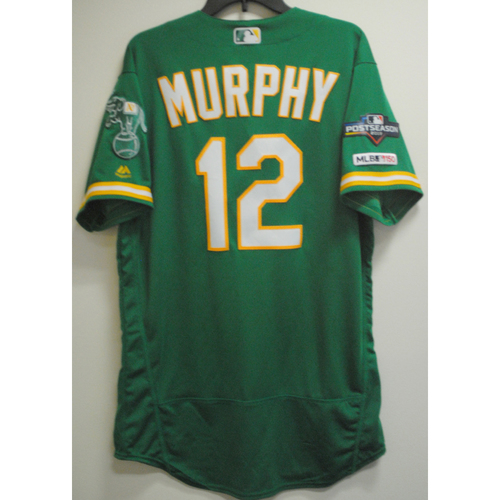 Photo of Sean Murphy Game-Used Kelly Green AL Wild Card Game Jersey