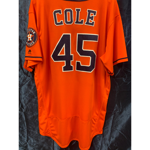 Photo of 2018 Gerrit Cole Team-Issued Orange Alt Jersey (Sz 48)