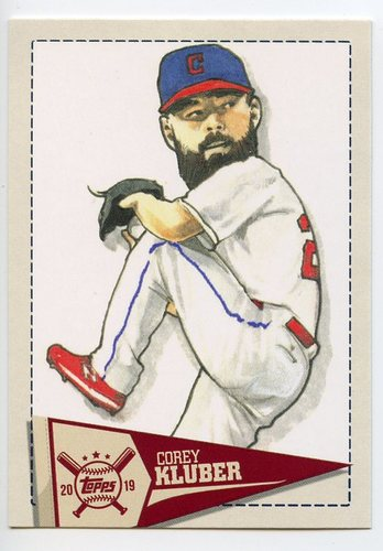 Photo of 2019 Topps Big League Star Caricature Reproductions #SCRCK Corey Kluber