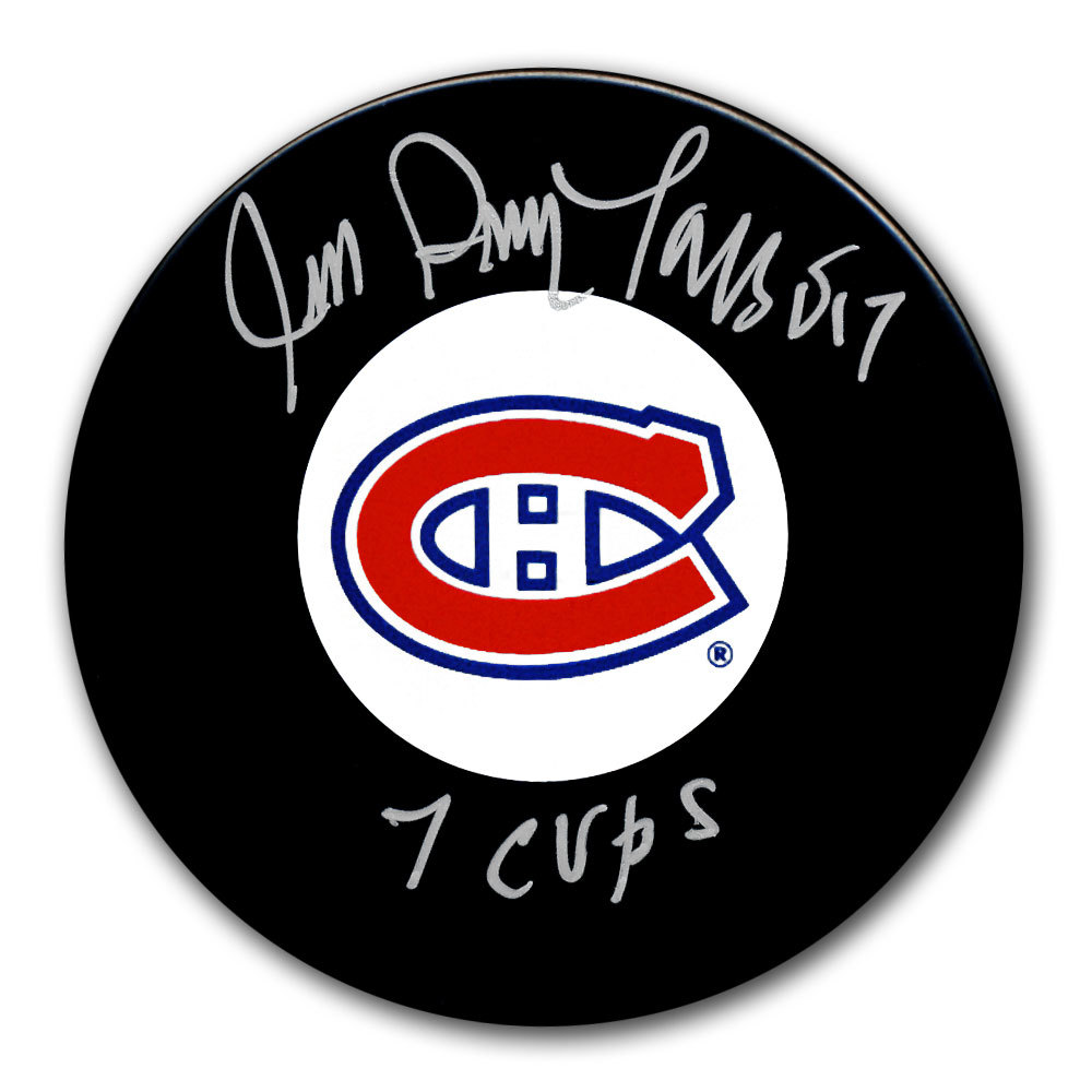 Jean Guy Talbot Montreal Canadiens 7 Cups Autographed Puck