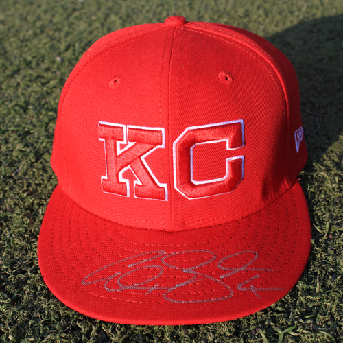 Photo of Autographed/Game-Used Monarchs Cap: Alex Gordon #4 (STL @ KC 9/22/20)