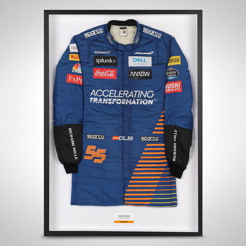 Photo of Carlos Sainz Hungarian GP 2020 Race Used Suit