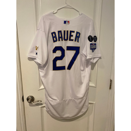 Photo of PRESALE - Trevor Bauer Special-Edition Home Opening Weekend Gold-Outlined Jersey