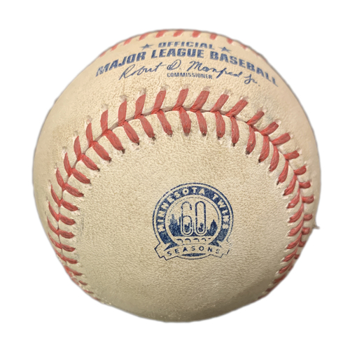 Photo of Minnesota Twins: 2020 Regular Season Game-Used Baseball - Cleveland at Twins - Jose Berrios to Francisco Lindor - Homerun - Top 3 - 7/30/2020