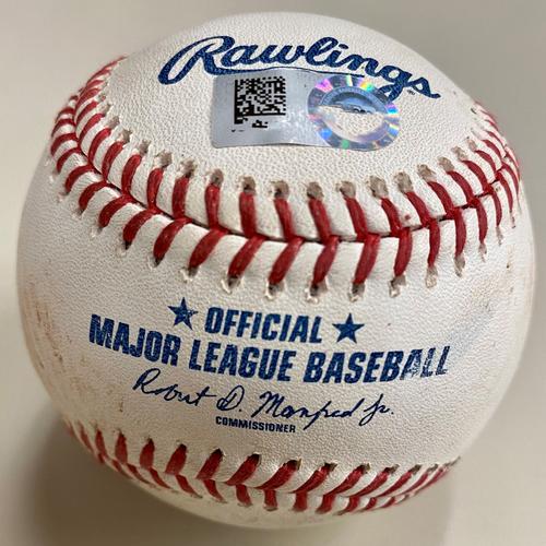 Photo of Game-Used Baseball: Bo Bichette Toronto Blue Jays RBI Single (MLB AUTHENTICATED)