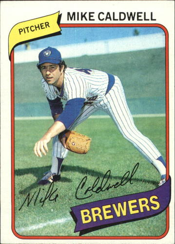Photo of 1980 Topps #515 Mike Caldwell UER#1979 loss total reads#96 instead