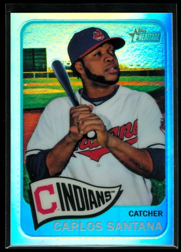 Photo of 2014 Topps Heritage Chrome Refractors #468 Carlos Santana