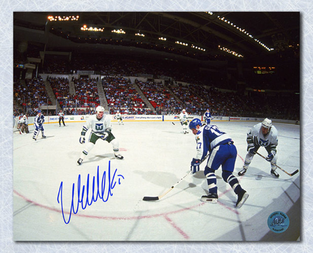 Wendel Clark Toronto Maple Leafs Autographed Panoramic 8x10 Photo