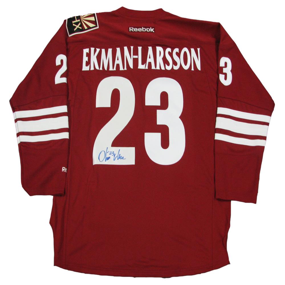 OLIVER EKMAN-LARSSON Signed Arizona Coyotes Red Reebok Jersey