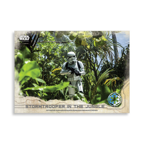 Stormtrooper in the Jungle 2016 Star Wars Rogue One Series One Base Poster - # to 99